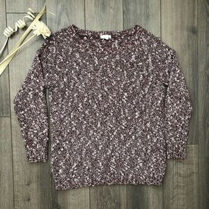 Garage Maroon & White Knit Sweater Size XS